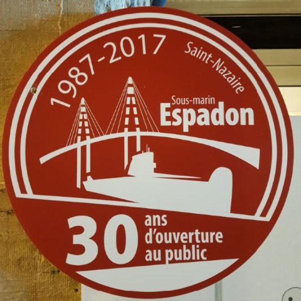 """A bord du sous-marin """"L'Espadon"""" à Saint-Nazaire"""