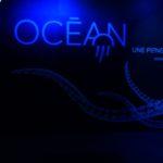 Mur d'entrée de l'exposition océans