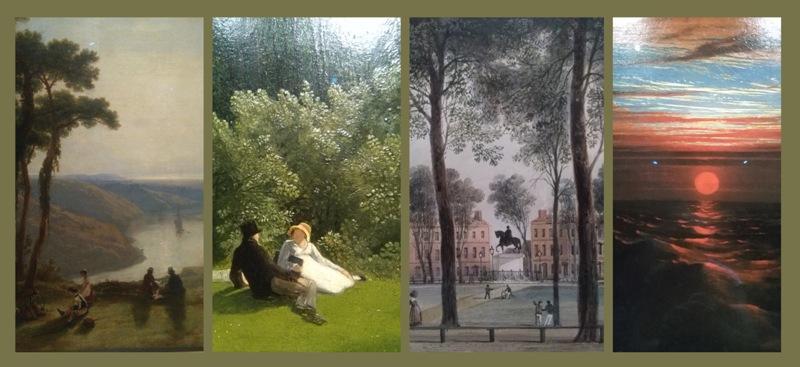 Vue de l'Avon depuis Durdham Down (James Baker Pyne) - Une scène à Leigh Woods (Francis Danby) - Queen Square (Thomas L. Rowbotham) - Coucher de soleil sur la mer après une tempête
